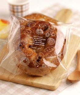 100Pcs Cookies Candy Self-Adhesive Plastic Bags Baking Biscuits Package shan