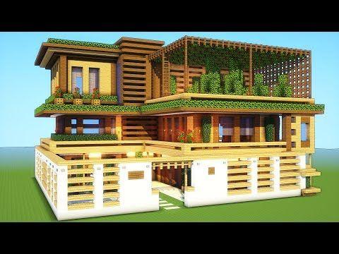 Minecraft: How To Build A Large Mansion House Tutorial ( 2018/2019 ) #minecraftbuildingideas