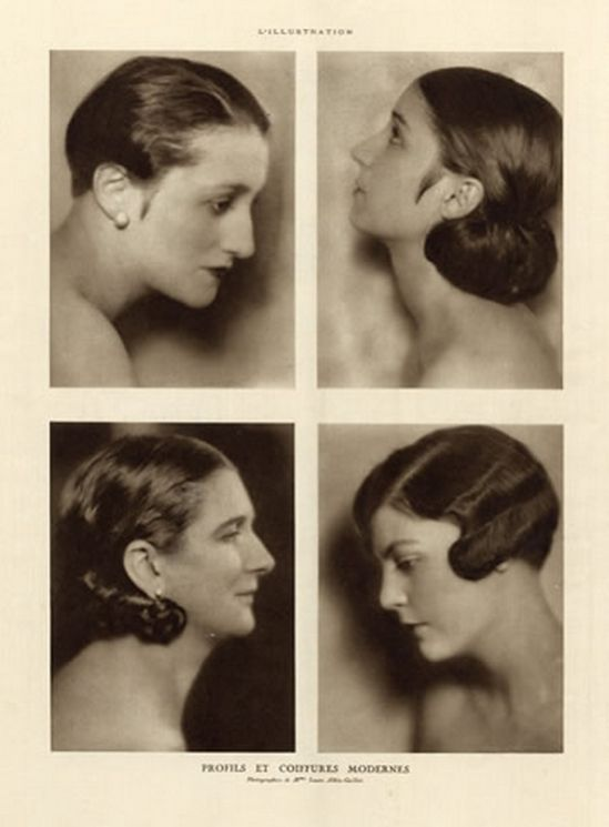 Laure Albin Guillot 1926 Profiles and Modern Hairstyles, Hairstyle