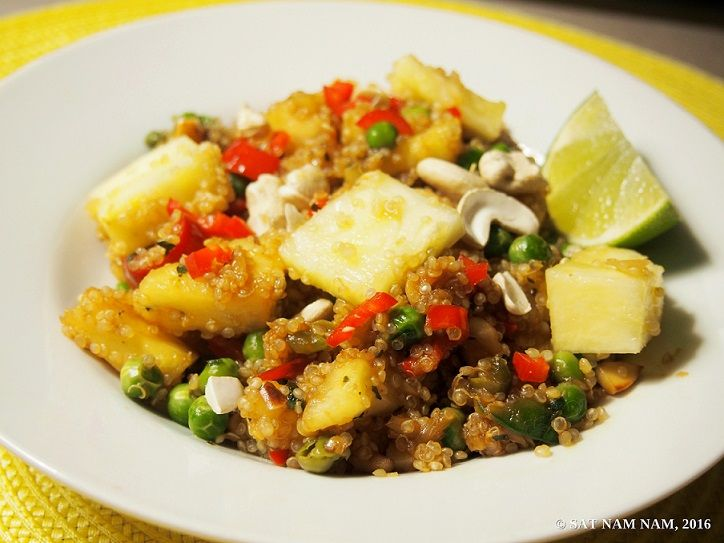 Ananas-cashew-kvinoa wokki (Veganomicon)(VEGAN, G) — Sat Nam Nam