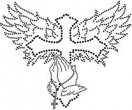 kruis, handen, rozenkrans