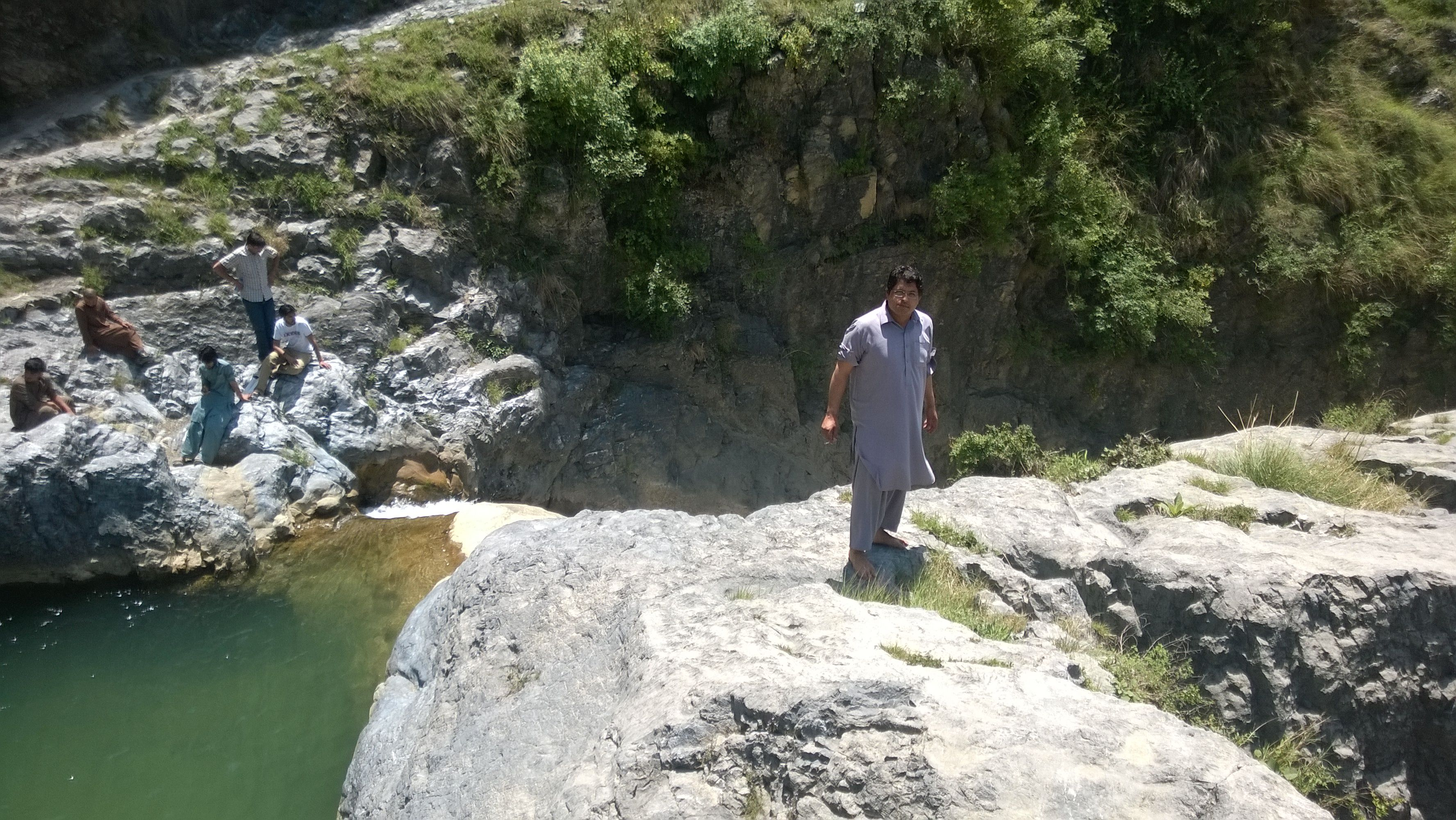 Khattakkum, the only person to remain in his clothes at the waterfalls.... sober... indeed