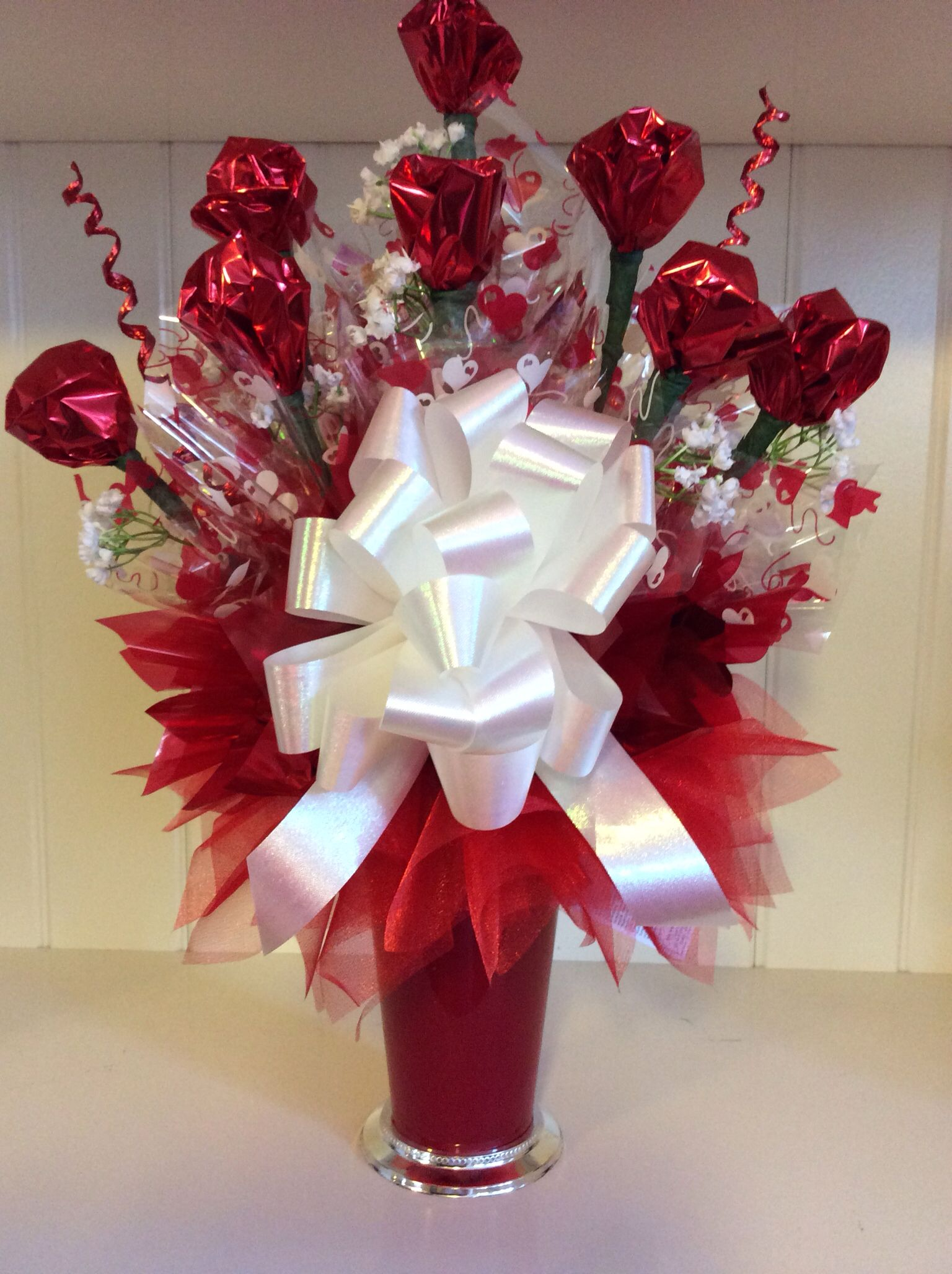 Hand Wrapped Chocolate Truffle Roses 49 99 Valentine Bouquet Valentines Candy Bouquet