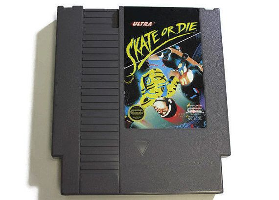Skate Or Die For Nintendo Nes 1988 Game Cartridge Only Skateboarding Extreme Sports Competition 1 8 Players Fun For Family Game Nintendo Nes Nes Nintendo