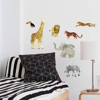 Wild Animal Big Wall Peel & Stick Wall Decal Multicolor 7