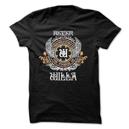 Never Underestimate The Power of WILLA - #checkered shirt #nike hoodie. LIMITED TIME PRICE => https://www.sunfrog.com/Names/Never-Underestimate-The-Power-of-WILLA-50952933-Guys.html?68278