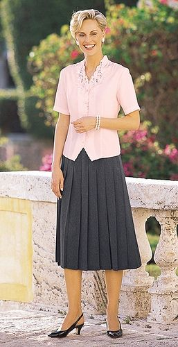 8cfeb22b8b Church Skirt Suits with pleated skirts for Women | PLEATED SKIRTS WITH  BLOUSES