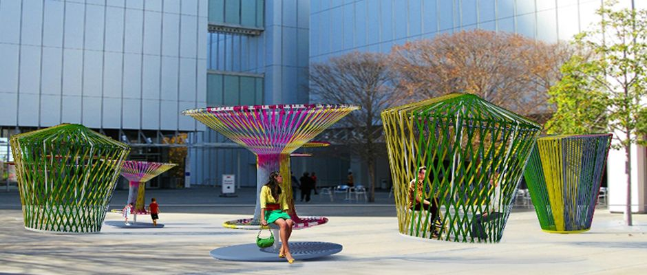"""High Museum of Art's Plaza Set to Come Alive with Art This Spring // Crowds fell in love with Sifley Plza last year as """"Mi Casa, Your Casa"""" transformed the High Museum of Art's outdoor entry areainto an interactive area to play and lounge. This year, the museum is ..."""