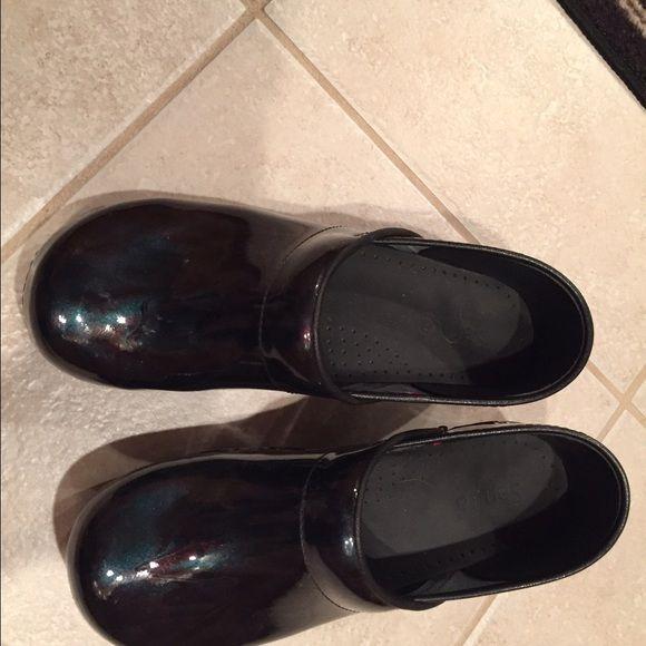 Sanita Nursing shoes Sanita Clogs, womens size 10. Multi colored blue, black and green. Used a few times. Comfortable. Sanita Shoes