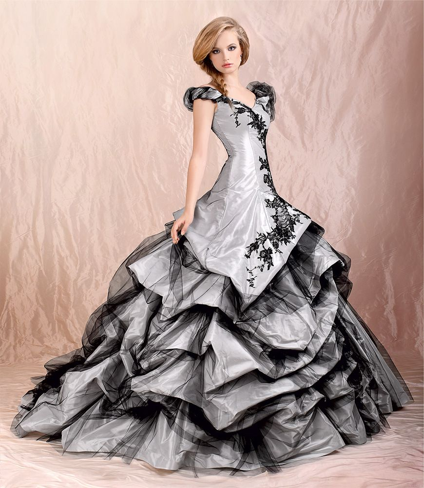 Agora grey u black wedding dress from the collection
