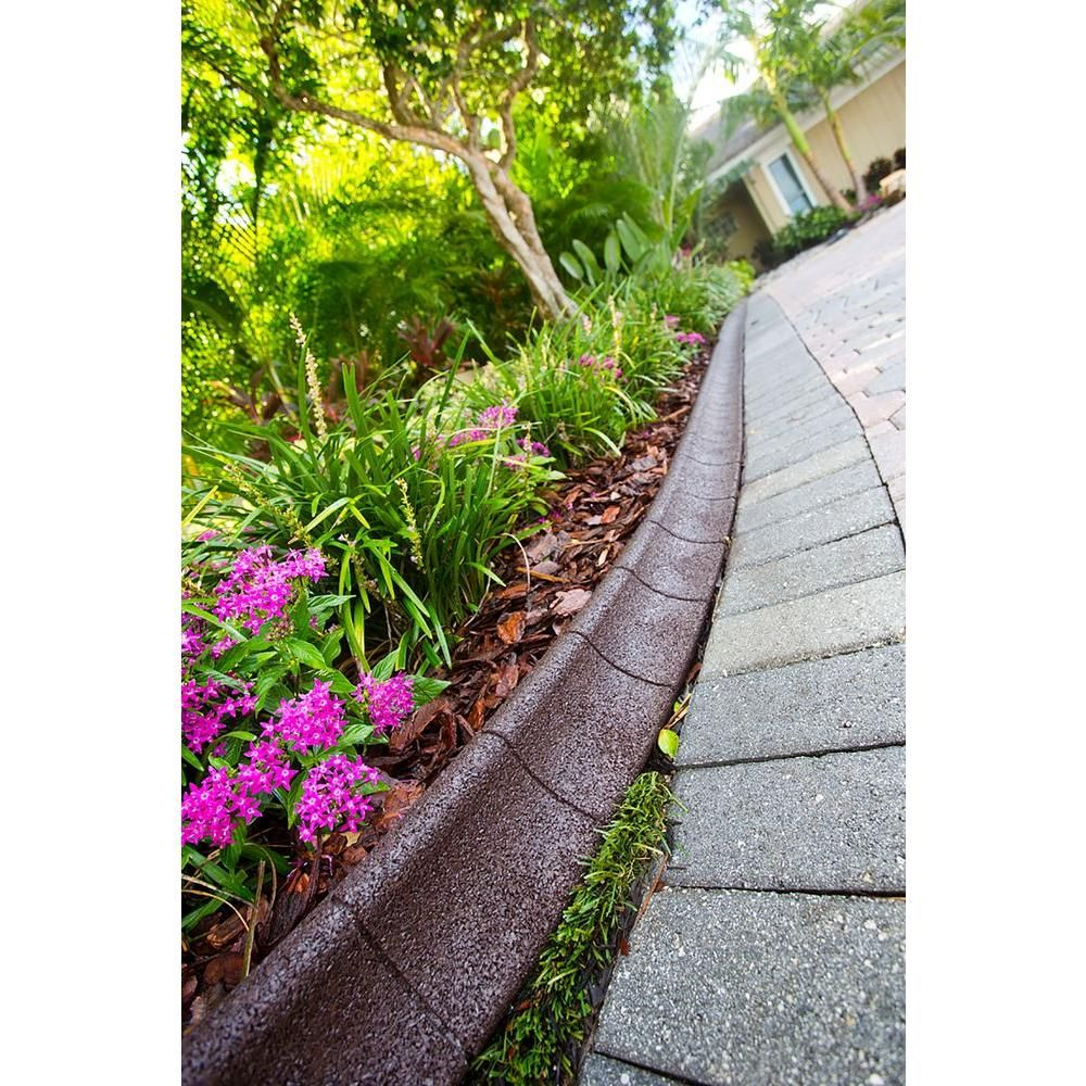 EcoBorder 4 ft. Brown Rubber Curb Landscape Edging (36
