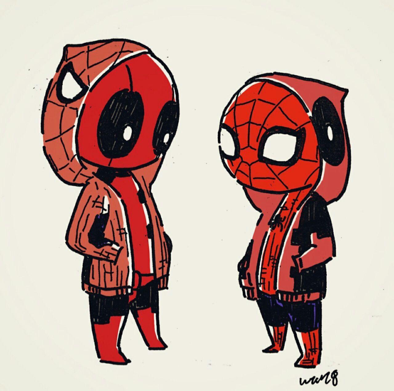 Deadpool Y El Hombre Araña Deadpool Deadpool X Spiderman