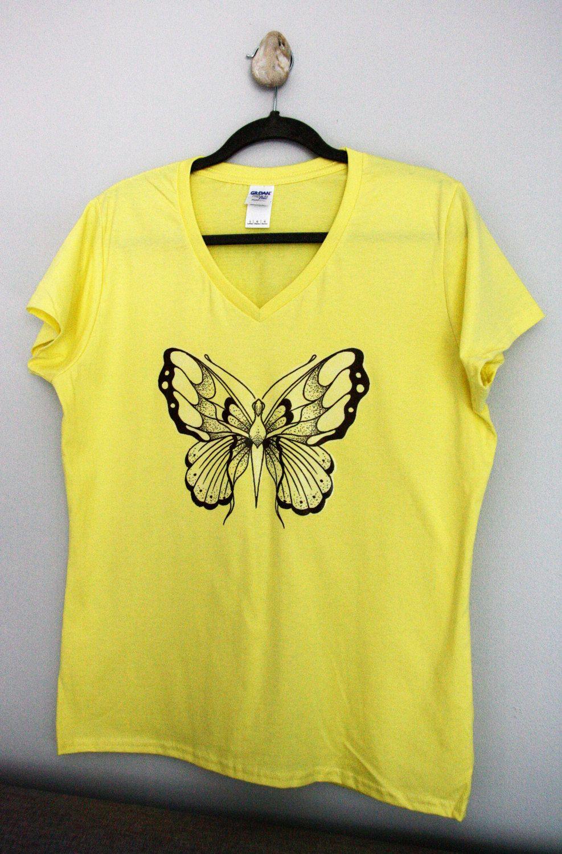 T-shirt design handmade - Iron On T Shirt Original Design Handmade Fine Liner Marker On Paper