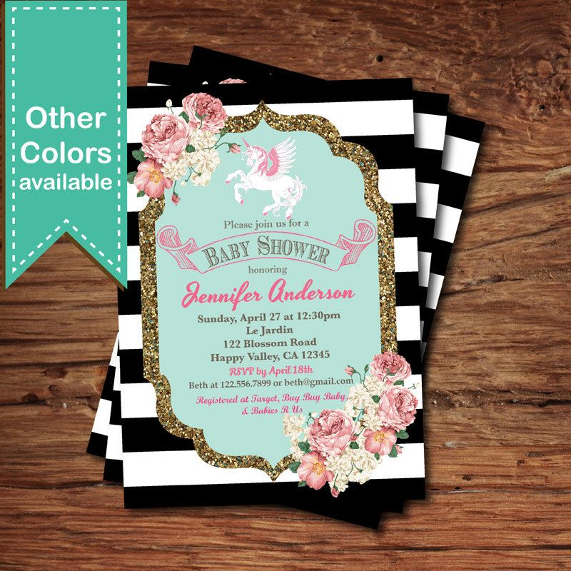 3d baby shower invitations