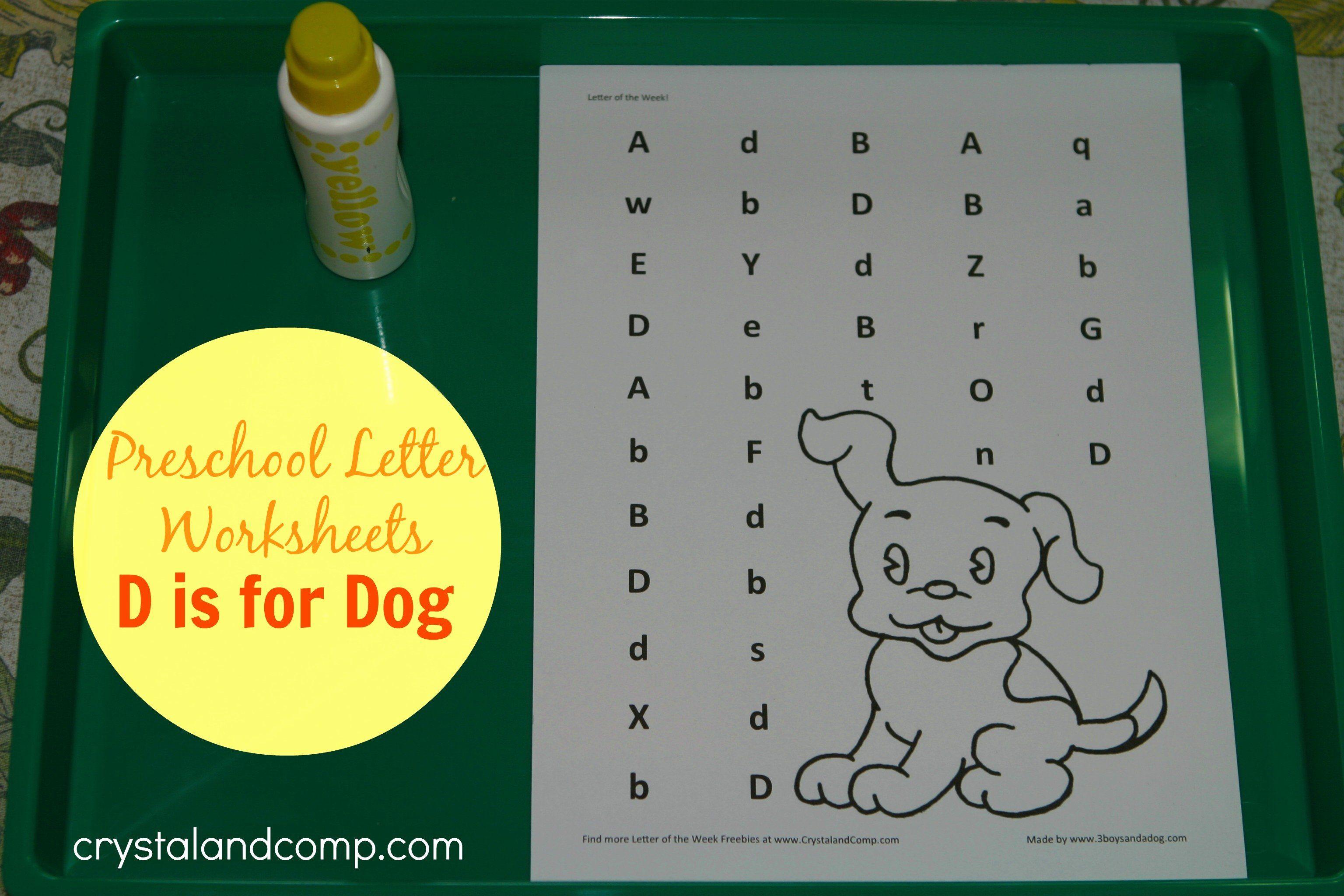 Letter D Worksheet For Preschool Lovely Preschool Letter