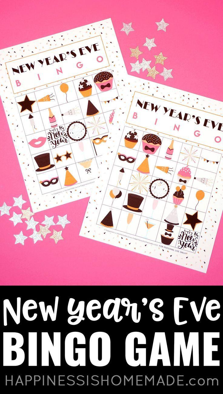 New Year's Eve Bingo These printable New Year's Eve Bingo