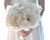Wedding bouquets vintage bridal bouquet - GRANDE SHABBY CHIC