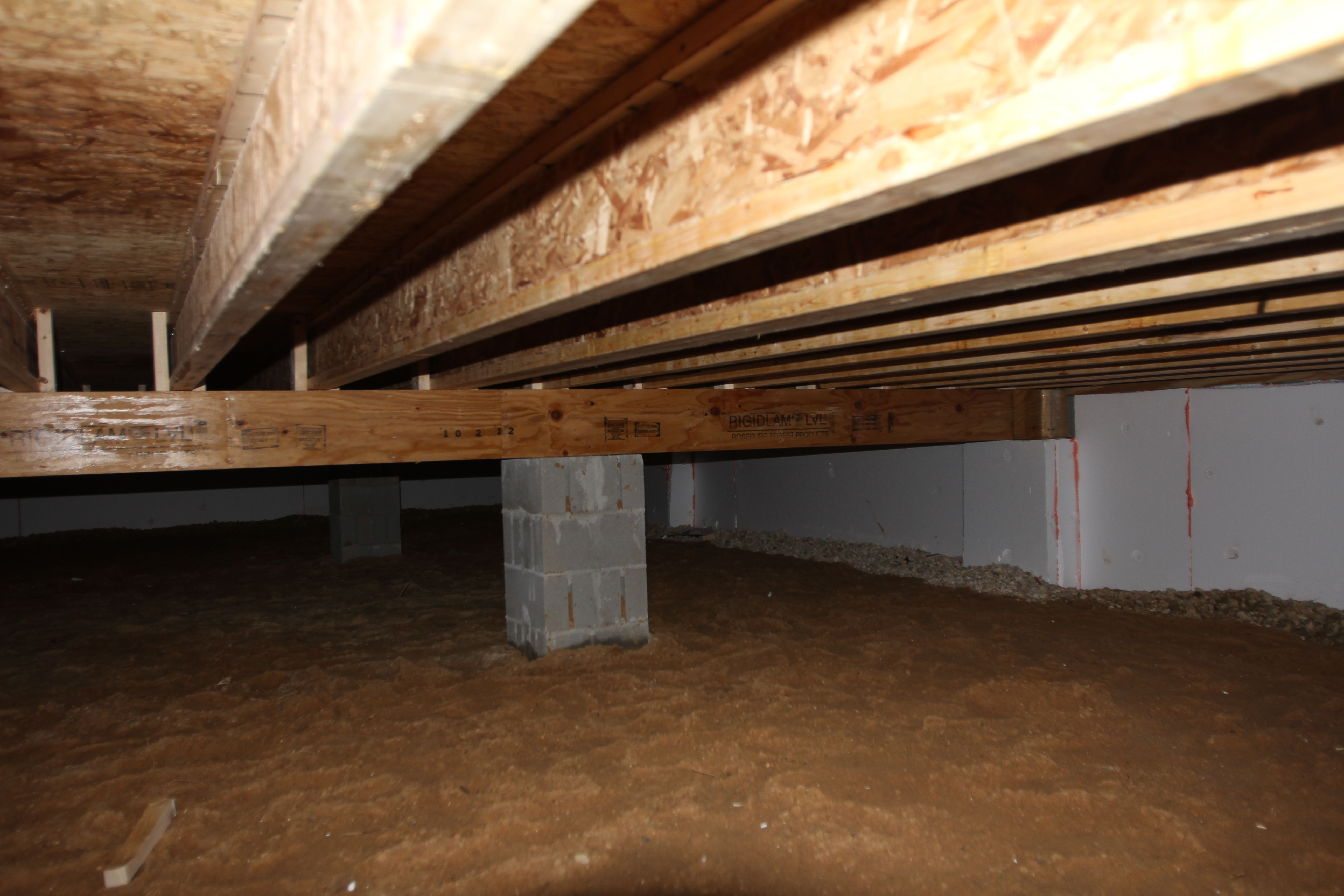 Floors Are Installed With Lvl Girders Engineered I Joists And Steel Shims Between The Pier Support Systems And Girders House Exterior Building Entryway Tables
