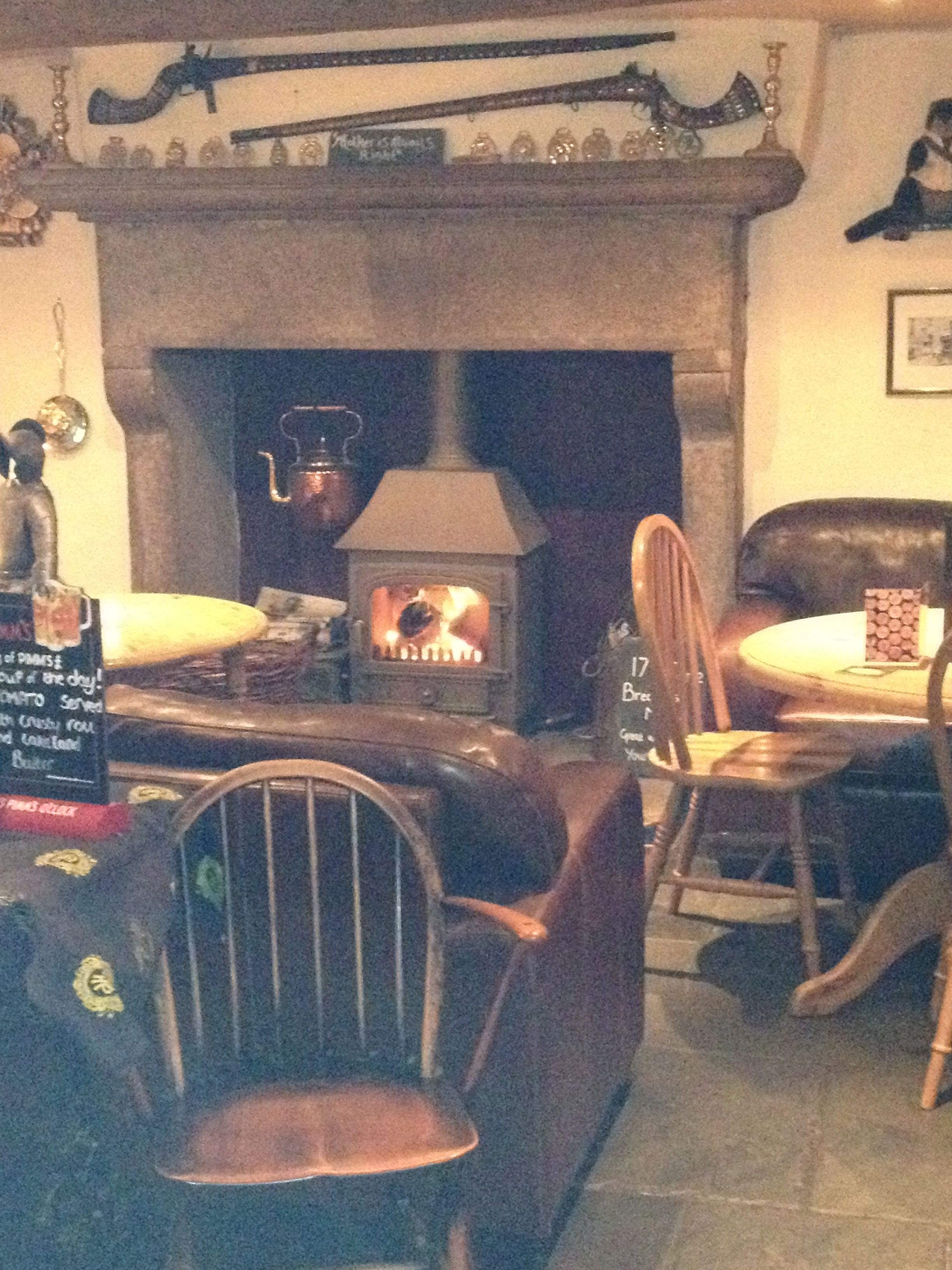 A Warm Cosy Log Burner At The Punchbowl Underbarrow British Pub