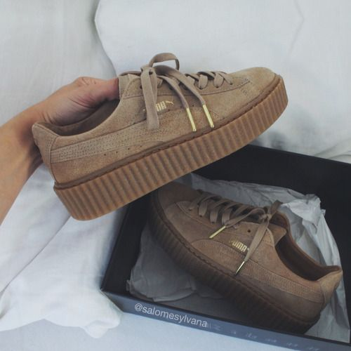 puma creeper by rihanna beige
