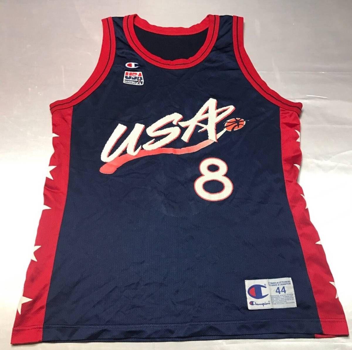 Champion Vintage Mens Large Size 44 Blue Team USA Scottie Pippen Champion  Basketball Jersey Size l f07f257e35b5