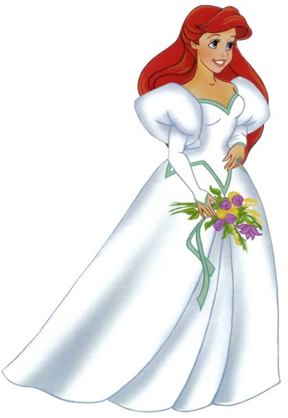 Ariel in her wedding dress || http://disney-clipart.com/Little ...