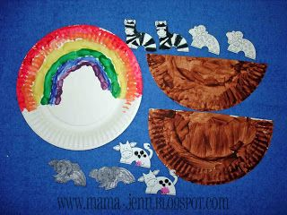 Noah's Ark Paper Plate Craft for Kids (with link to printable