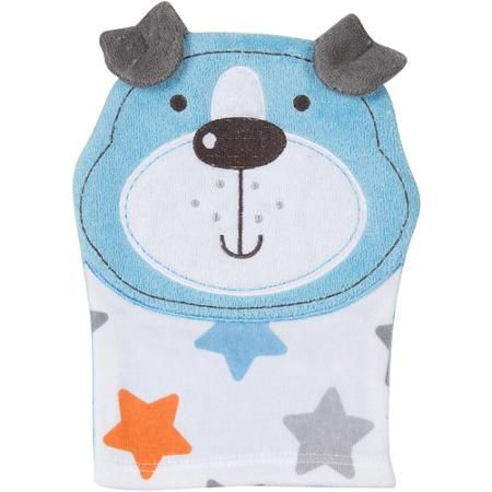 Gerber Newborn Baby Boy Animal Terry Bath Mitt