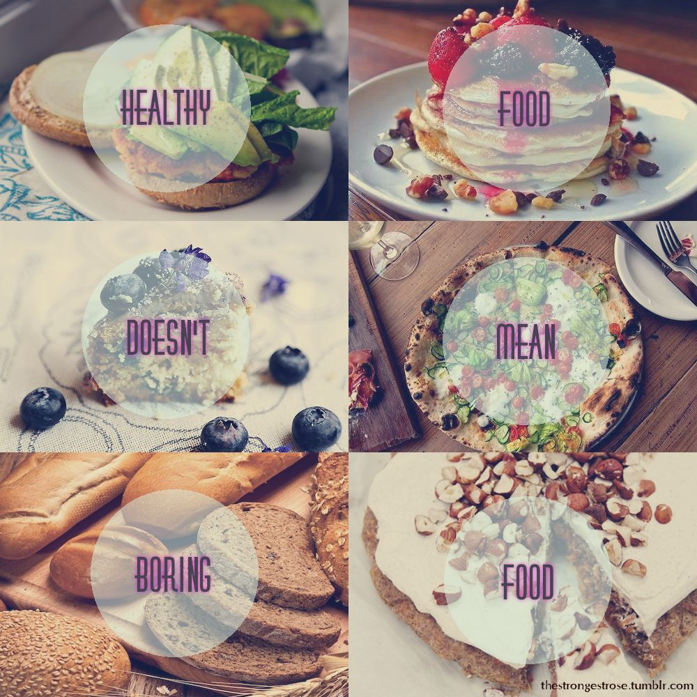 Healthy doesn't mean boring
