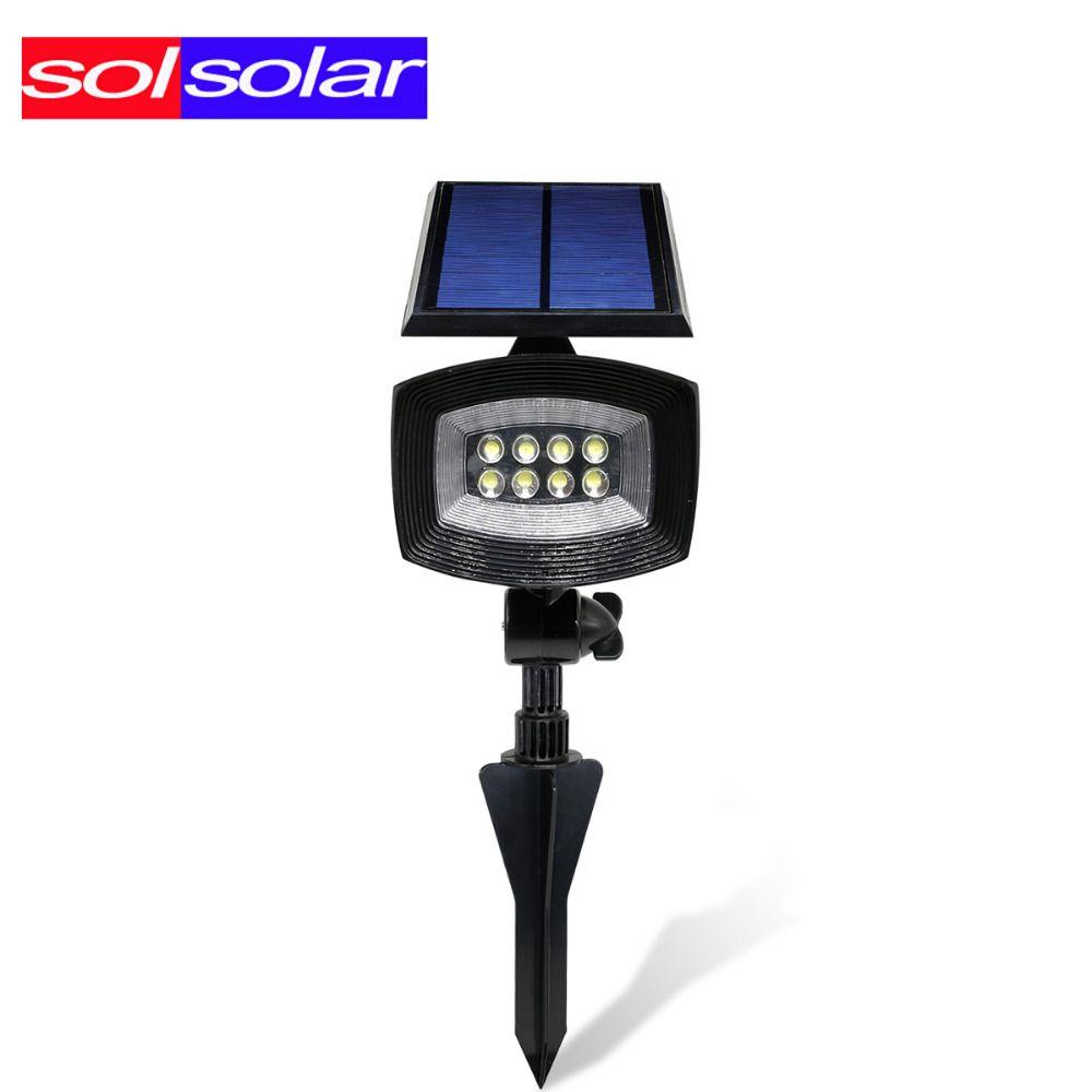 Solsolar 400lumen Outdoor Led Solar Light Patios Decks Pathways Stairways Security Solar Lamp Led Outdoor Garden Spot Solar Lamp Garden Spotlights Solar Lights