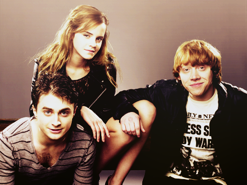 The gang now...Ron melts my heart!