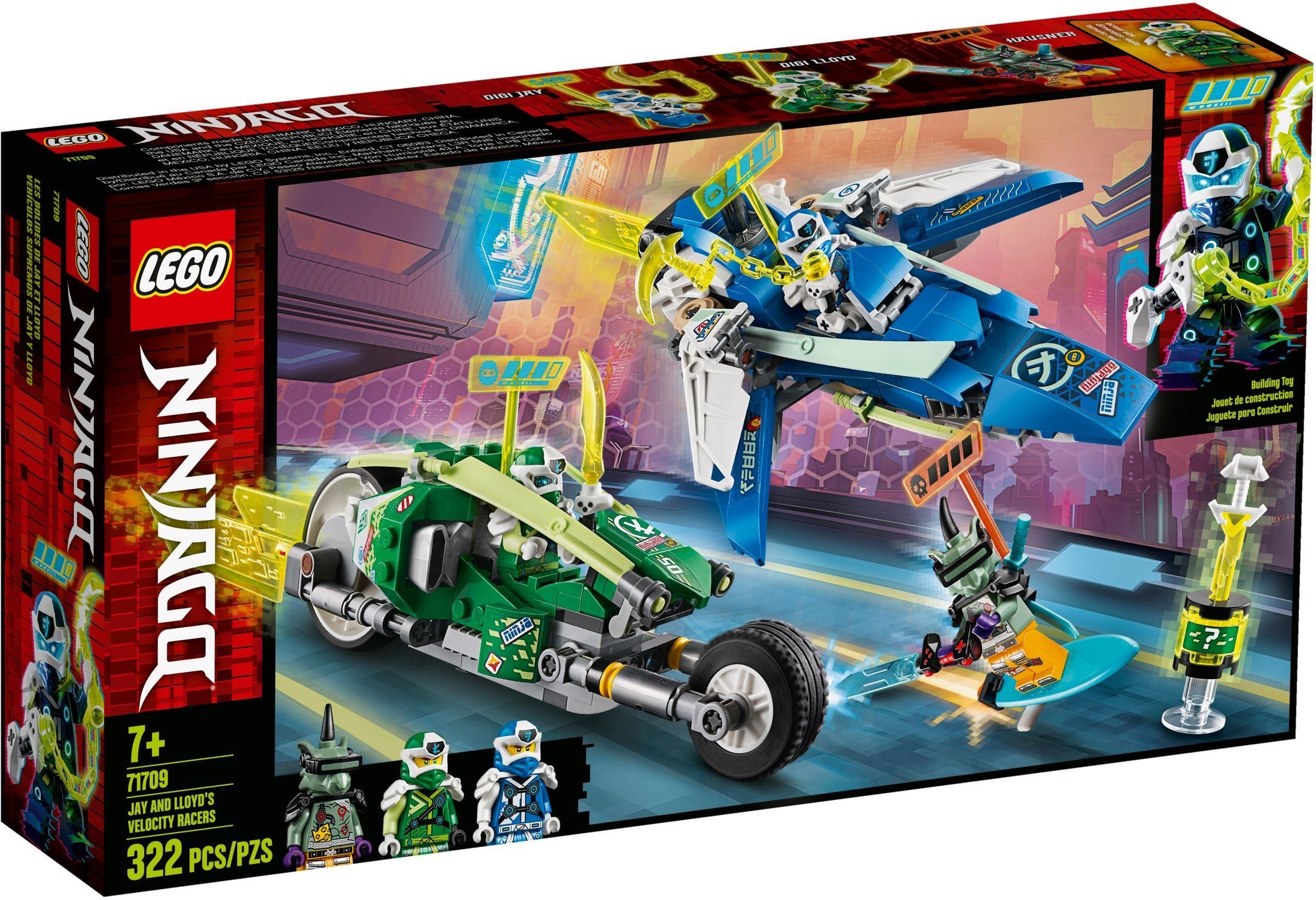 Lego Ninjago 71709 Jay And Lloyd S Velocity Racers With Images