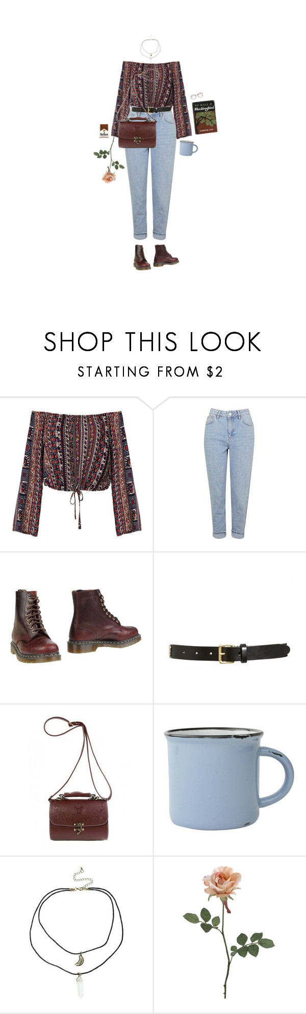 """pidäthän mua kädestä"" by hetasdfghjkl ❤ liked on Polyvore featuring Topshop, Dr. Martens, Tory Burch and canvas"