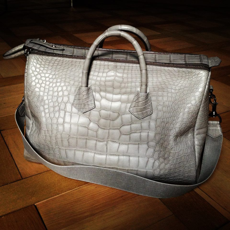 Peter Nitz Zurich 45cm Matte Grey Alligator Newey Duffle