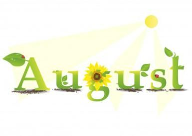 What Can You Celebrate And Learn About In August August Clipart August Pictures Hello August Images