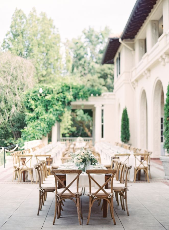 Elegant Tuscan inspired wedding reception