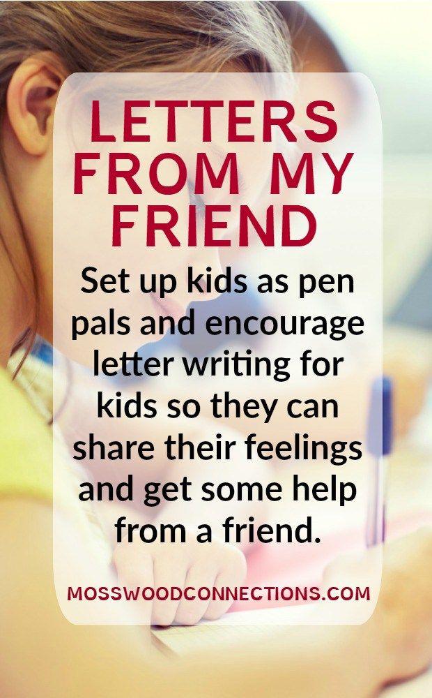 FloridaS Friendship Advice Letter Writing For Kids  Pen Pals