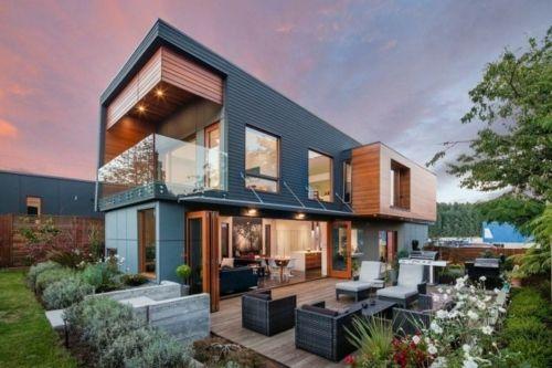 La maison contemporaine en bois toujours écologique | Moderne häuser ...