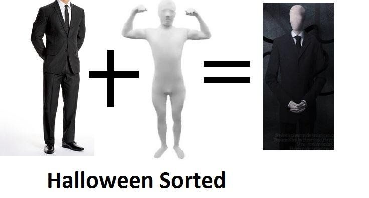 how to make an easy slender man costume