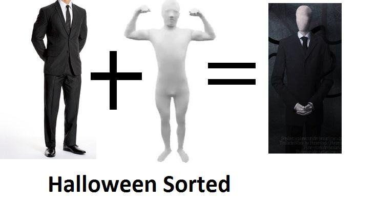 how to make an easy slender man costume