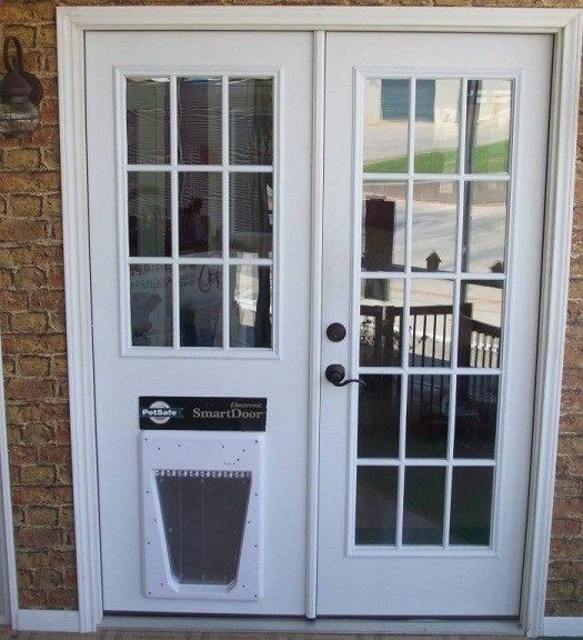 Replace Sliding Glass Door With Dog Door French Doors Patio