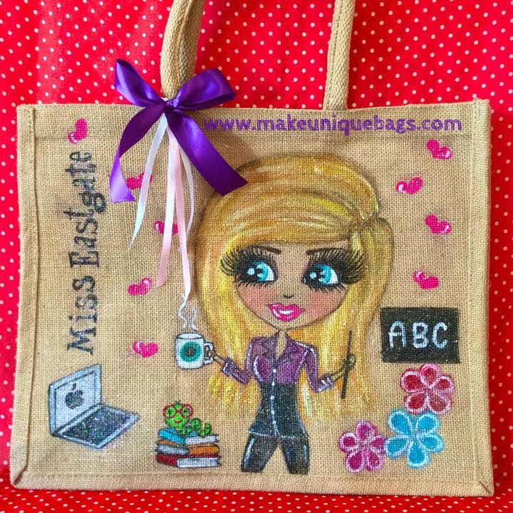 how to make personalised jute bags