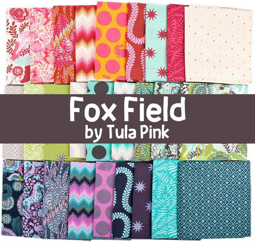 Simply enchanting.  Fox Field fabric by Tula Pink for Free Spirit Fabrics