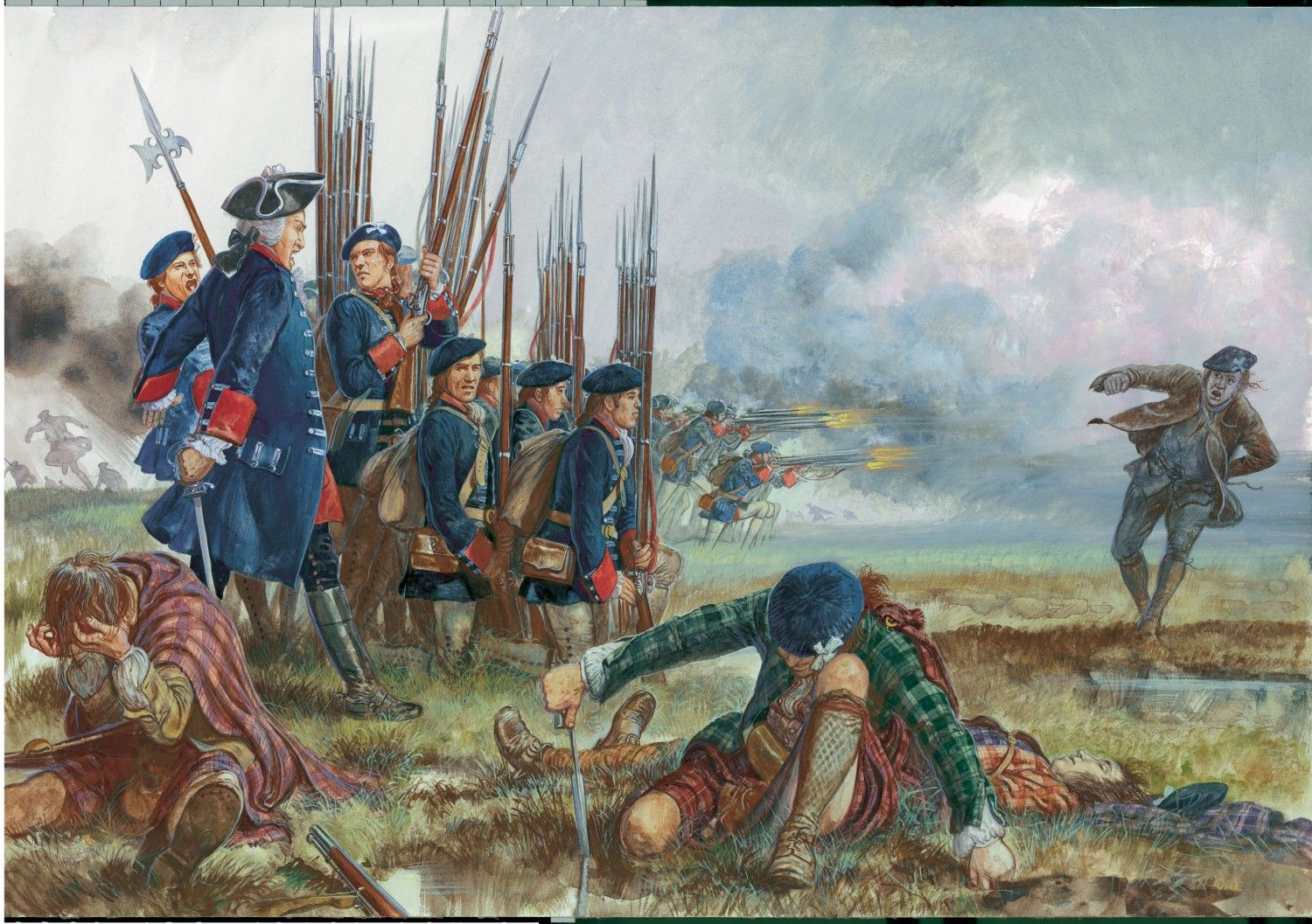 Royal Ecossois at Culloden. Click on image to ENLARGE and double click to…