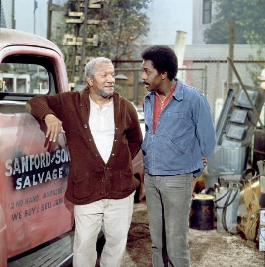 Sanford And Son Truck Pickup As Fred Sanford In Sanford And