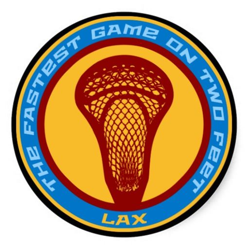 Lacrosse fastest game sticker the sport of lacrosse the fastest game on two feet