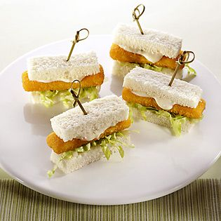 Party finger sandwiches recipe simply great meals for Fish stick sandwich