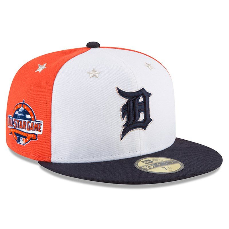 596fd947dcd82 Detroit Tigers New Era 2018 MLB All-Star Game On-Field 59FIFTY Fitted Hat –  White Navy