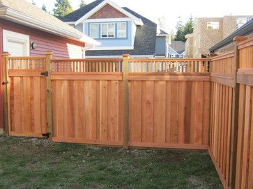 Craftsman Style Fence Design Ideas Pictures Remodel And Decor Traditional Landscape Craftsman House Home Landscaping
