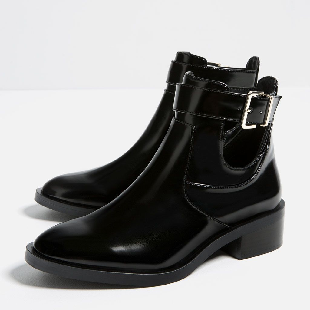 bottines plates ouvertes-bottines-chaussures-femme | zara france